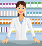 Smiling Pharmacist Royalty Free Stock Photos