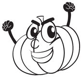 Smiling pumpkin face Royalty Free Stock Photos