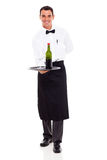 Sommelier with wine Stock Photography