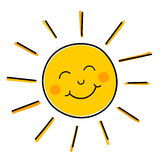 Smiling sun vector Royalty Free Stock Photo