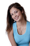 Smiling young girl wearing dental braces Royalty Free Stock Photo