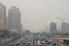 Smog in Beijing Stock Image