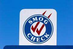 Smog Check Sign Stock Image