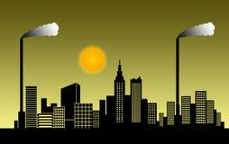 Smog city Stock Photo