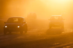 Smog from forest fires Royalty Free Stock Image
