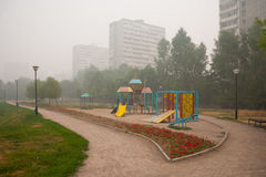 Smog in Moscow Royalty Free Stock Images