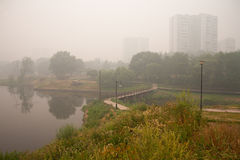 Smog in Moscow Stock Images
