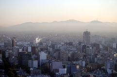 Smog over Mexico City Royalty Free Stock Photography