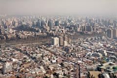 Smog over Santiago, Chile Royalty Free Stock Photos