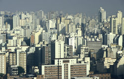 Smog pollution and skyscrapers, São Paulo, Brazil. Stock Photo