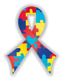 Smooth Autism Ribbon Royalty Free Stock Photography