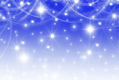 Smooth blue  with stars Royalty Free Stock Photo