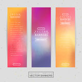 Smooth colorful background design for banners set Stock Photography