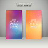 Smooth colorful background design for banners set Royalty Free Stock Photography
