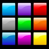 Smooth Shiny Buttons Royalty Free Stock Photo
