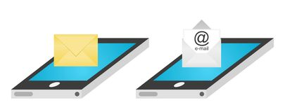 SMS and e-mail on smartphone Stock Image