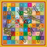 Snake Ladder Ludo-Print & Play Stock Photo