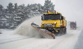 Snow blizzard Stock Photo