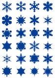 Snowflake shapes Stock Image