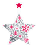 Snowflakes Christmas Star Royalty Free Stock Images