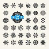 Snowflakes icon set Royalty Free Stock Images