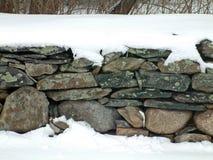 Snowy Stone Wall 2 Royalty Free Stock Photography