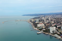 Sochi sea trade port Royalty Free Stock Images