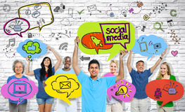 Social Media Communications Group of People Royalty Free Stock Photo