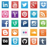 Social media icons Royalty Free Stock Photo