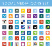Social Media Icons Set Royalty Free Stock Image