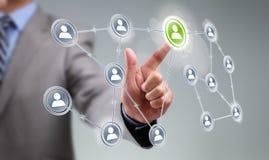 Social media interface Stock Photos