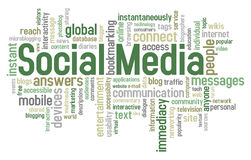 Social Media Word Cloud Royalty Free Stock Images