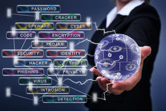 Social networking and cyber security concept Stock Photo
