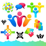 Social People Icons and Elements Stock Image