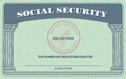 Social Security Card Royalty Free Stock Image