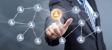 Sociale media interface Stock Foto