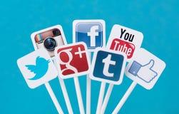 Sociale media tekens Stock Foto