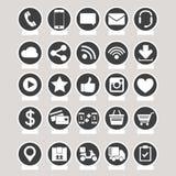 Socialt massmedia och e-kommers vektor Fotografering för Bildbyråer