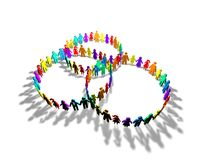 Society, togetherness, social abstract concept abstract idea Royalty Free Stock Photo