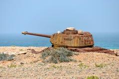 Socotra, battle tank, Yemen Stock Photography