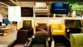 Modern furniture store shop Stock Photo