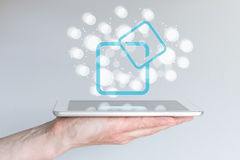 Software and hardware framework for mobile computing with smart phones and tablets. Stock Photography