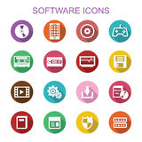 Software long shadow icons Royalty Free Stock Images