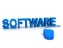 Software and mouse Royalty Free Stock Photos