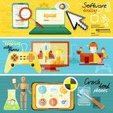 Software testing, games and crash test Royalty Free Stock Image