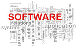 Software word tags Stock Image