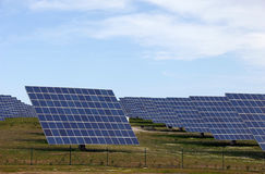 Solar panels alternative energy power station Royalty Free Stock Images