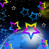 Solar System Stars Background Means Earth And Heavenly Bodies Royalty Free Stock Photo