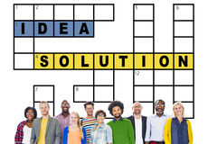 Solution Ideas Plan Solving Result Crossword Concept Royalty Free Stock Image