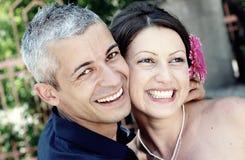 Sorriso bonito dos pares Imagem de Stock